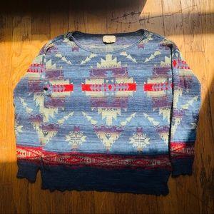 Denim & Supply Ralph Lauren Aztec Tribal Sweater